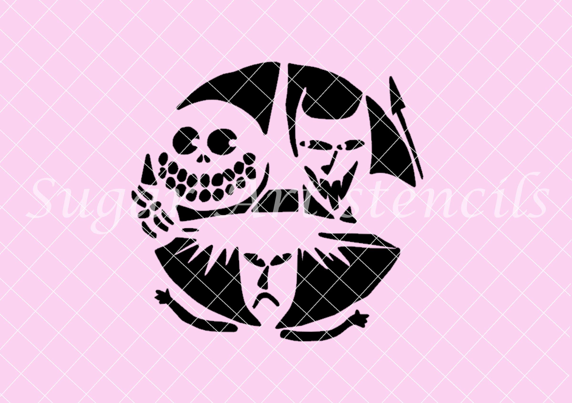 Nightmare Before Christmas Zero Pumpkin Stencils 16304 | LOADTVE