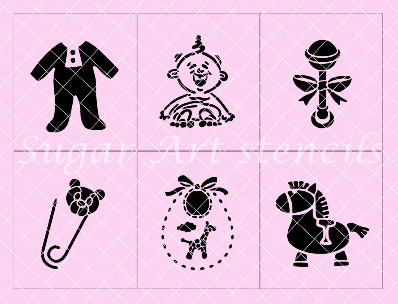 Baby Shower Cookie Stencils Set Of 6 Designs SL2085 12.99