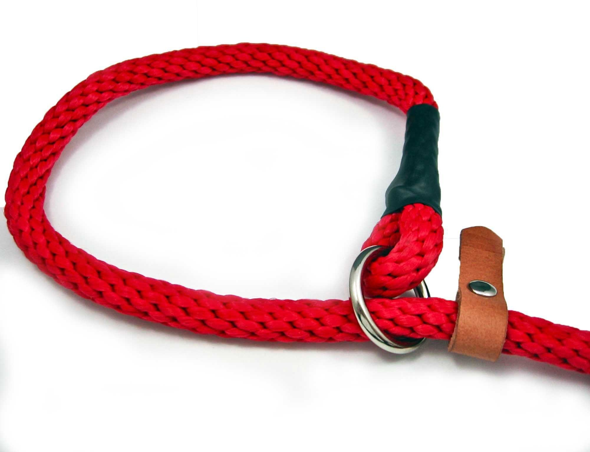 The English: 6 Ft English Leash With Neck Loop and Rubber Handle