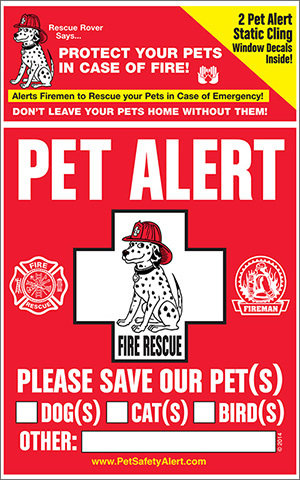 National Pet Fire Safety Day Window Clings (2 window clings) npfsdwc-001