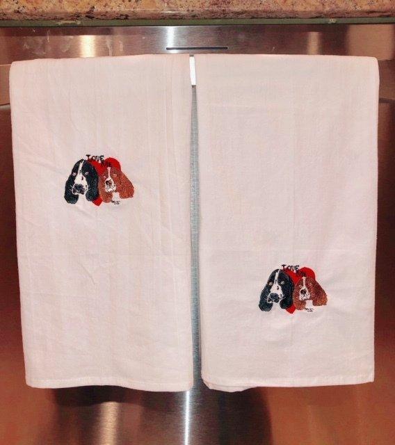 Love Me cotton Flour Sack Tea Towels