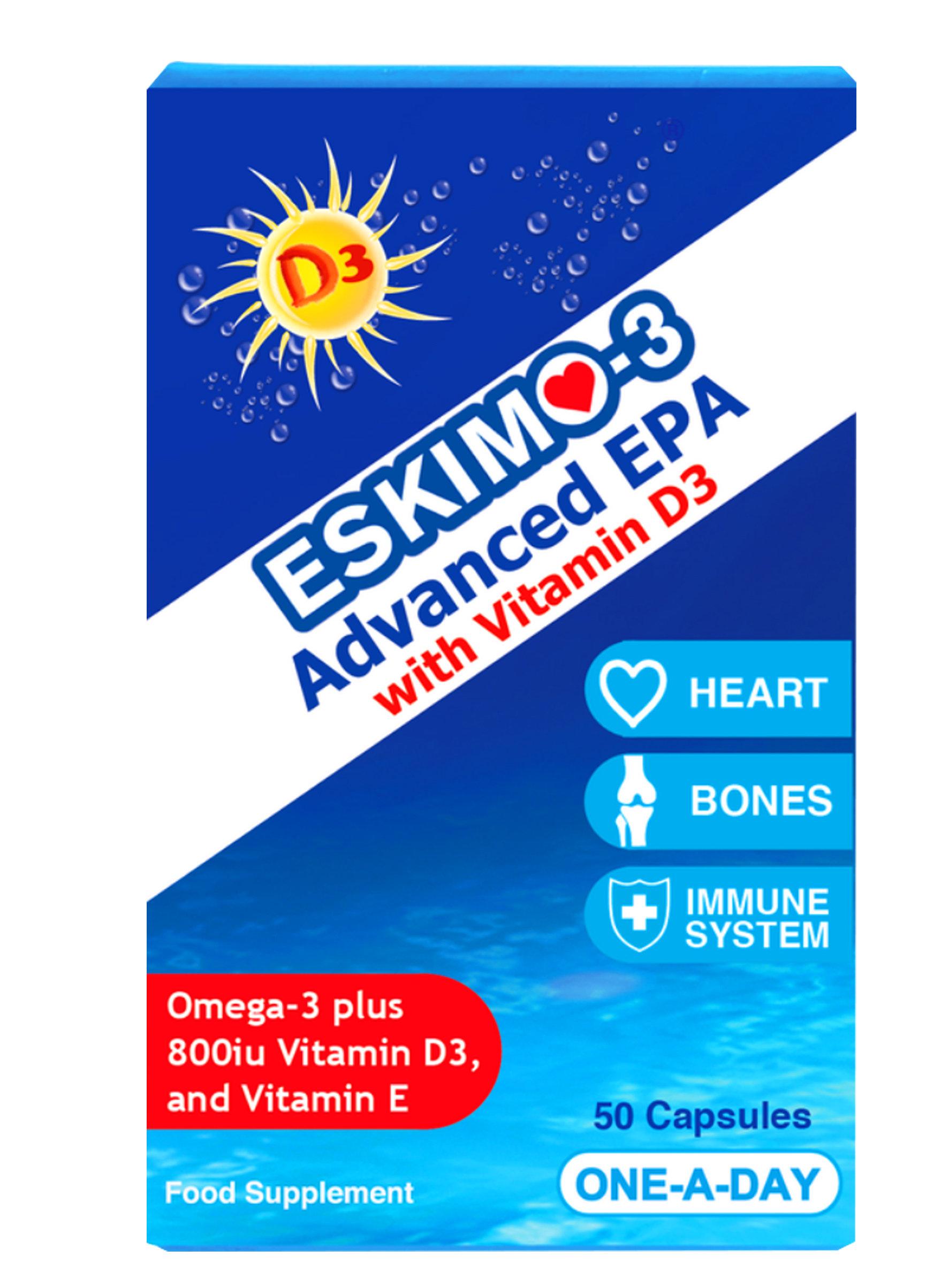 Eskimo Advanced EPA with Vitamin D3 - One-a-Day 00000