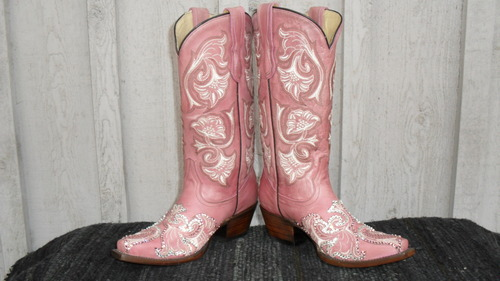 """Introducing our new """"Devilishly Diva"""" Corral boots with Swarovski crystal bling!!"""