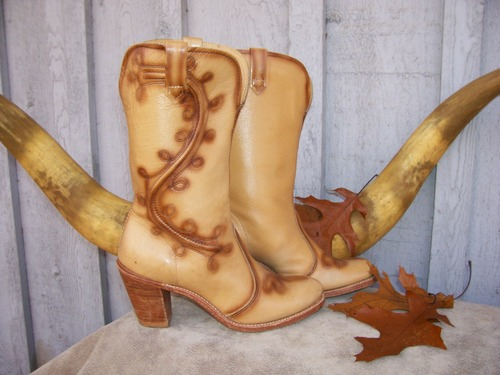 """Burndt Scroll"" Acme Boots"