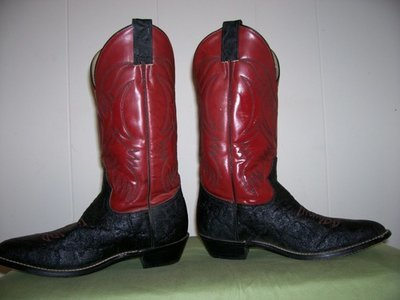 Like new Justin Stingray Skin boots!