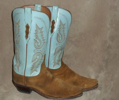 Lucchese 1883s with a turquoise twist......what a temptation!