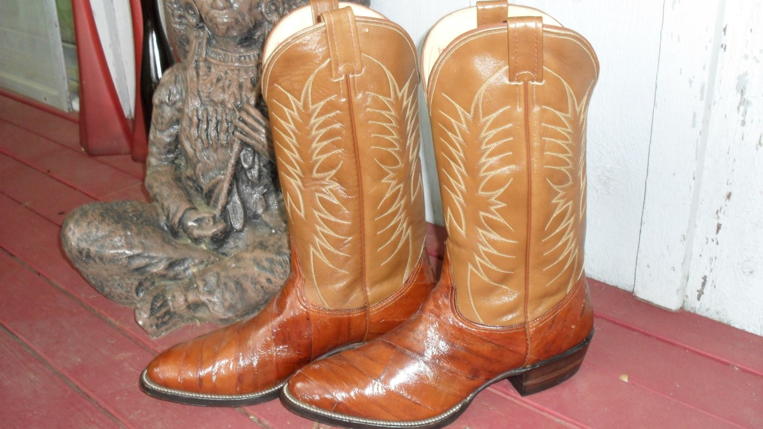 Brand New Pair of Nocona Eel Skin Boots...Handsome!!