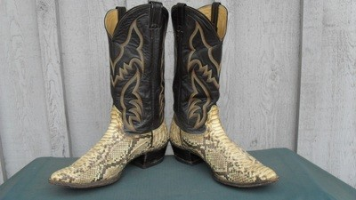 Commanding pair of Nocona python boots!