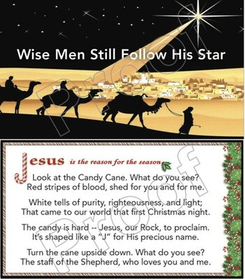 Wise Men & Candy Cane Tracts