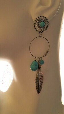 Turquoise Feather Halos