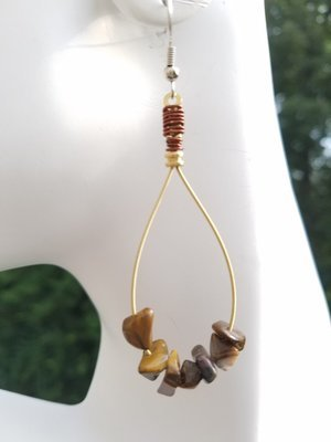 Tiger's Eye Tear Drop Earring