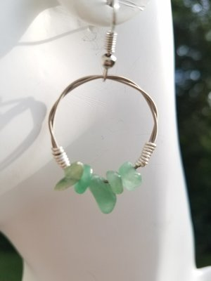 Adventurine Hoop Earring 1