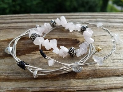 Rose Quartz Bangle Set