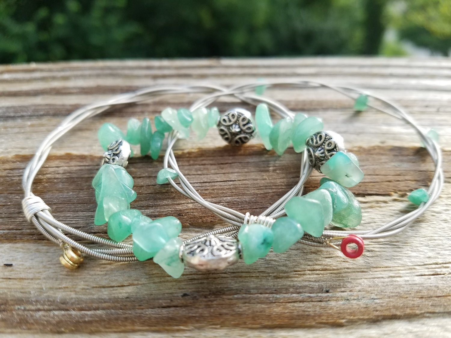Adventurine Bangle Set
