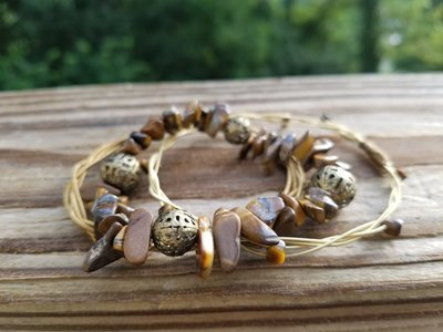 Tiger's Eye Bangle Set