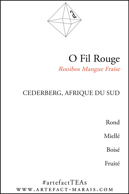 O Fil Rouge : Rooibos Mangue Fraise T6002