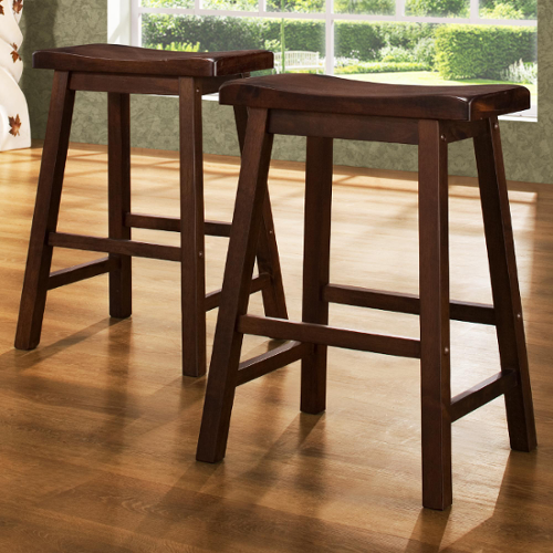 Saddle Stools by Homelegance