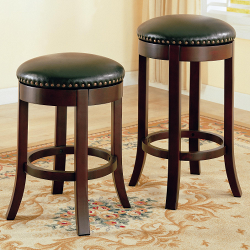 Coaster Swivel Barstool with Upholstered Seats