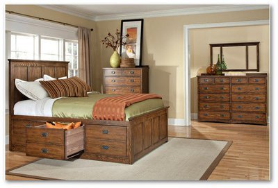 Oak Park Collection - Bedroom Set (Storage bed)