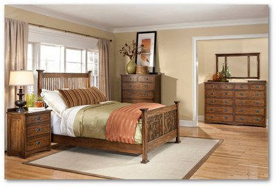 Oak Park Collection - Bedroom Set (Mission bed)