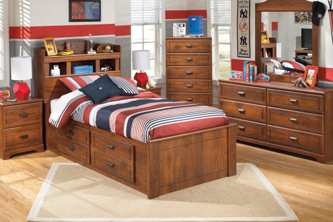 Barchan Twin Sized Storage Bed