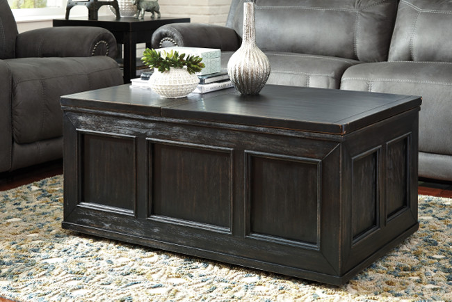 Gavelston Lift Top Cocktail table and End Tables