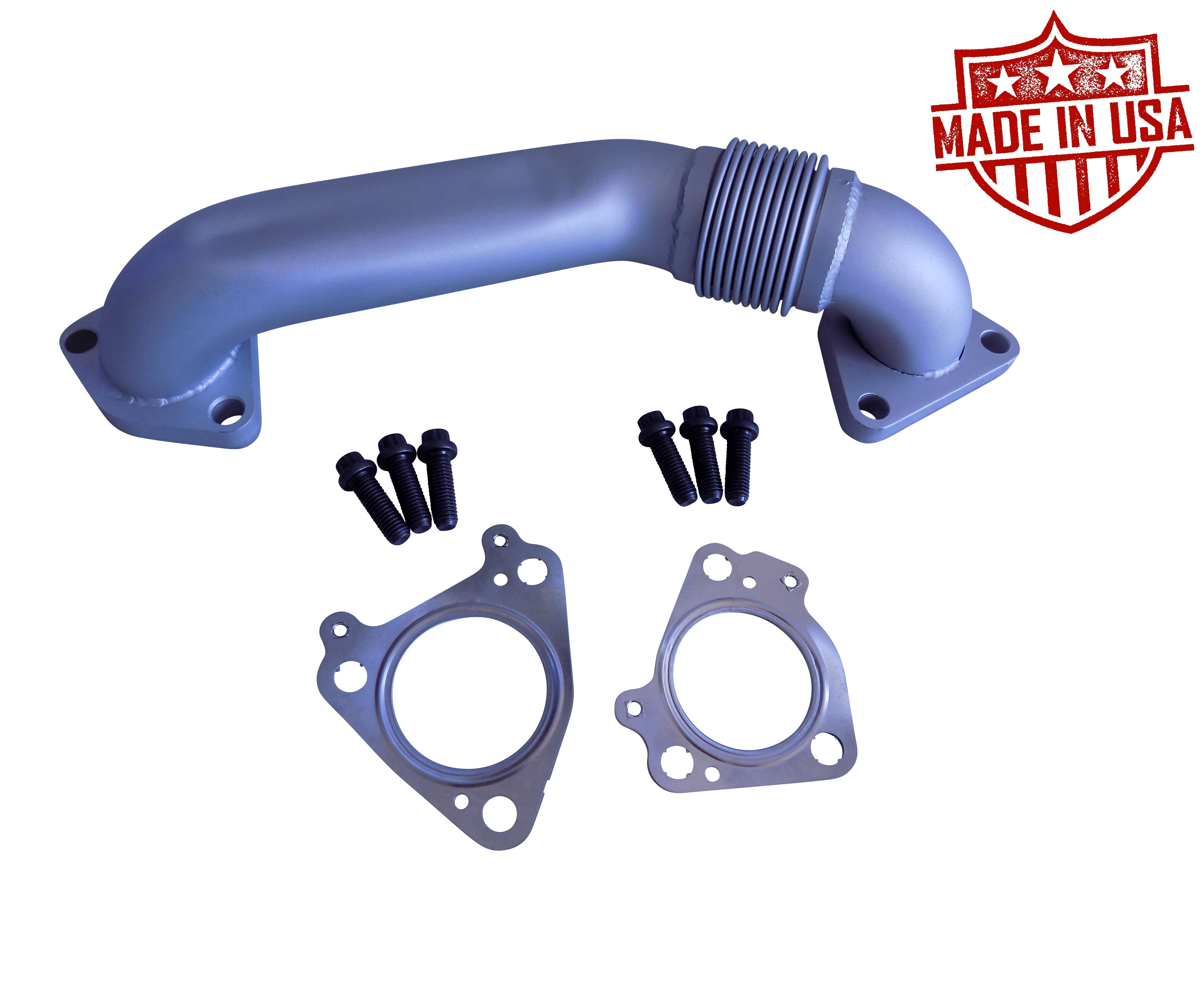 Exhaust Up Pipes Manifolds To Turbo 66l Duramax Chevy Gmc 2001 16 03 Fuel Filter Housing Lb7