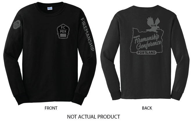 Firemanship Conference Gun Metal Long Sleeve T-shirt