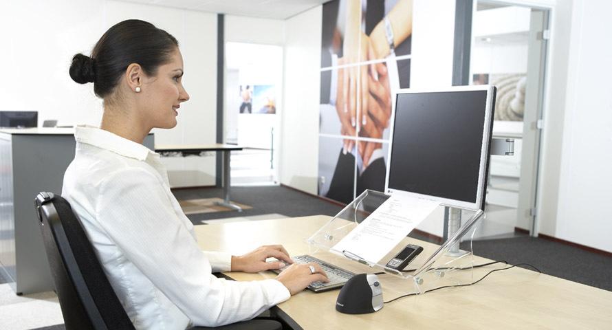 Effizienter Arbeiten mit einem Dokumenthalter.