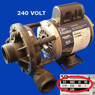 65-2120, PUMP, CIRCULATION PUMP, 240V 50/60HZ, 2007 - Present