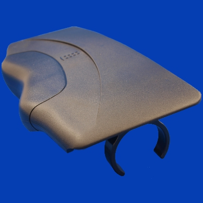 60-1145, Snapcap, ABS, No Pillow w/Clips, Black, 2007 - 2008