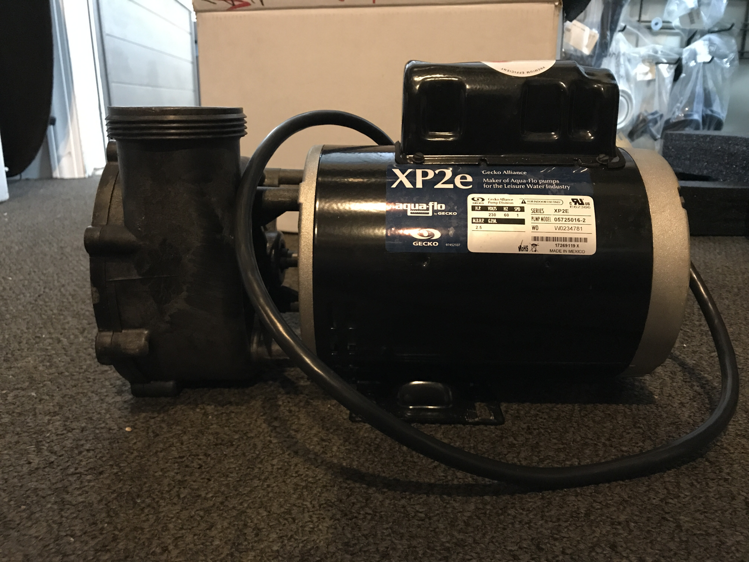 65-2150, PUMP, 2.5/4.8 HP, 240V, 56F, 60HZ, SINGLE SPEED, 2015 - Present