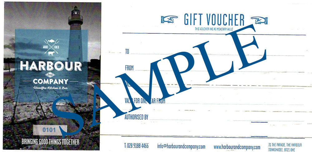 Harbour & Company £80 Voucher 00038