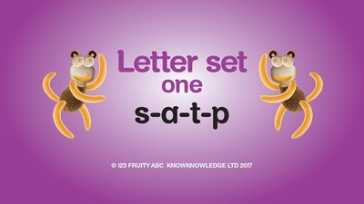 Learn Letter Set 1 Video • Week 1: s a t p