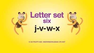 Learn Letter Set 6 Video • Week 6: j v w x
