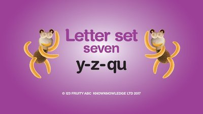 Learn Letter Set 7 Video • Week 7: y z qu