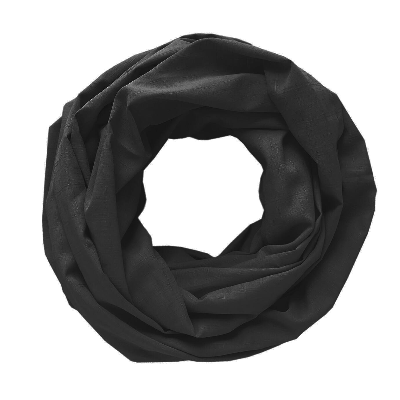 Легкий шарф-снуд черный