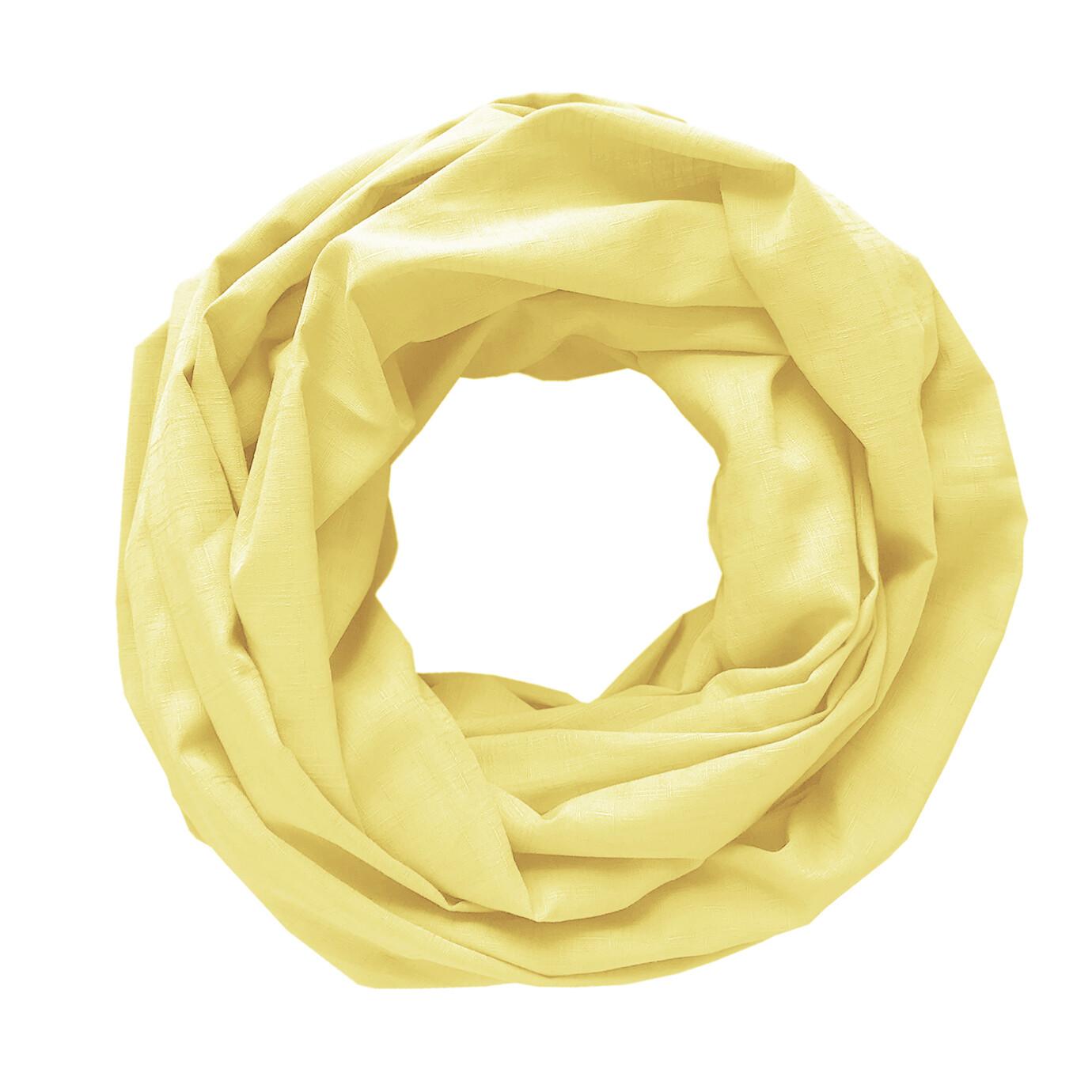 Легкий шарф-снуд пастельно-желтый