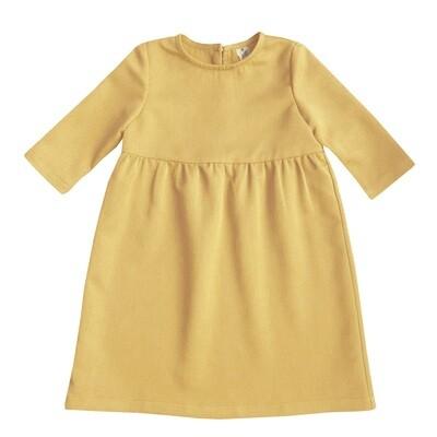 Платье детское горчичное