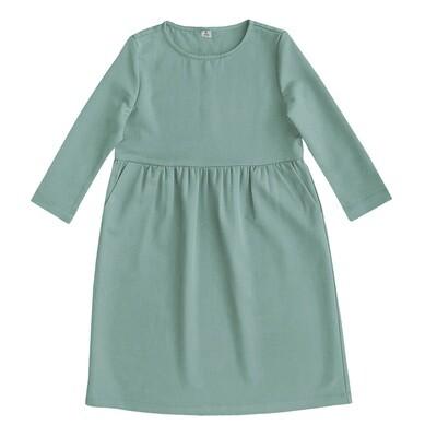 Платье взрослое мятное
