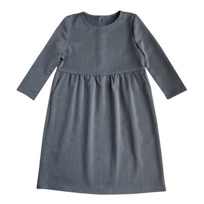 Платье взрослое темно-серое