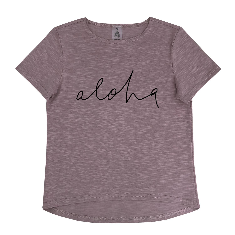 """Футболка """"Aloha"""" какао (взрослые и детские)"""