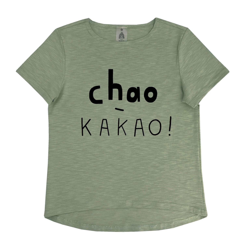 """Футболка """"chao-какао"""" хаки (взрослые и детские)"""