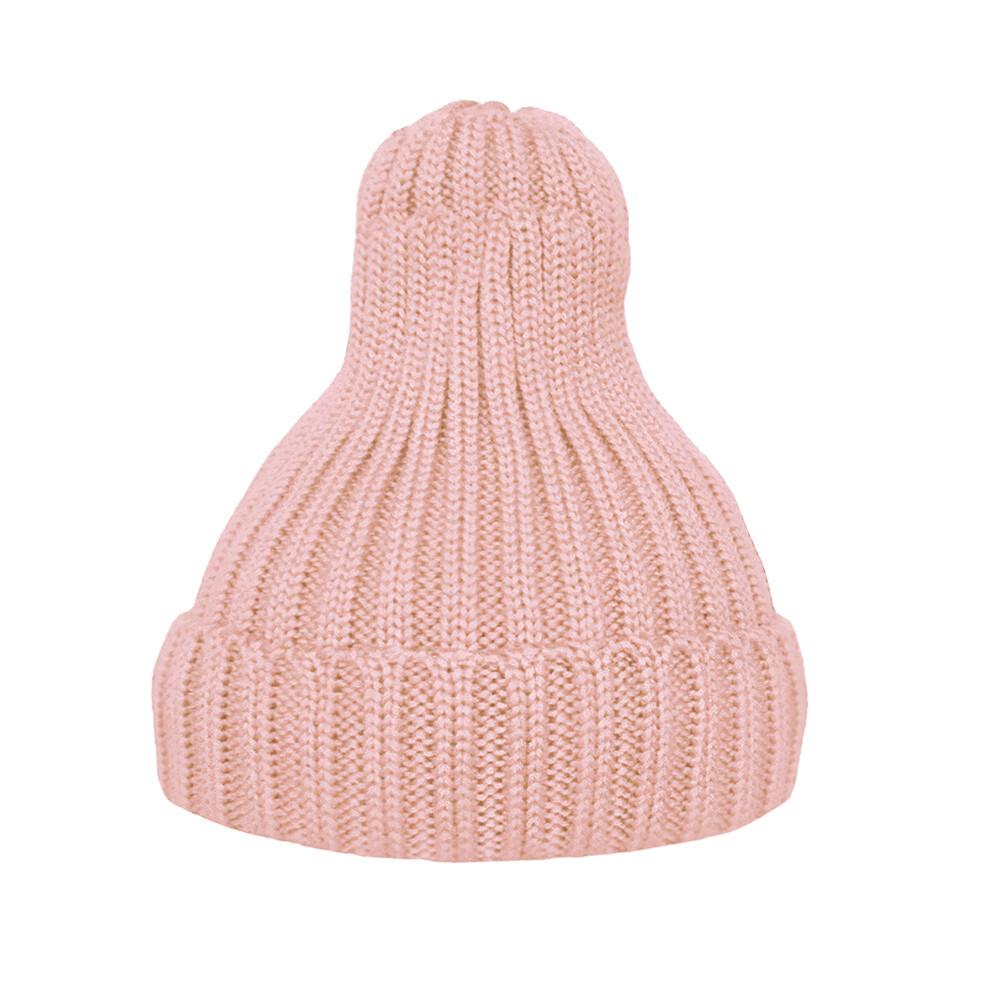 Шапка утеплённая нежно-розовая