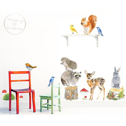 Интерьерная наклейка «Набор животных — большой»  (15 элементов)