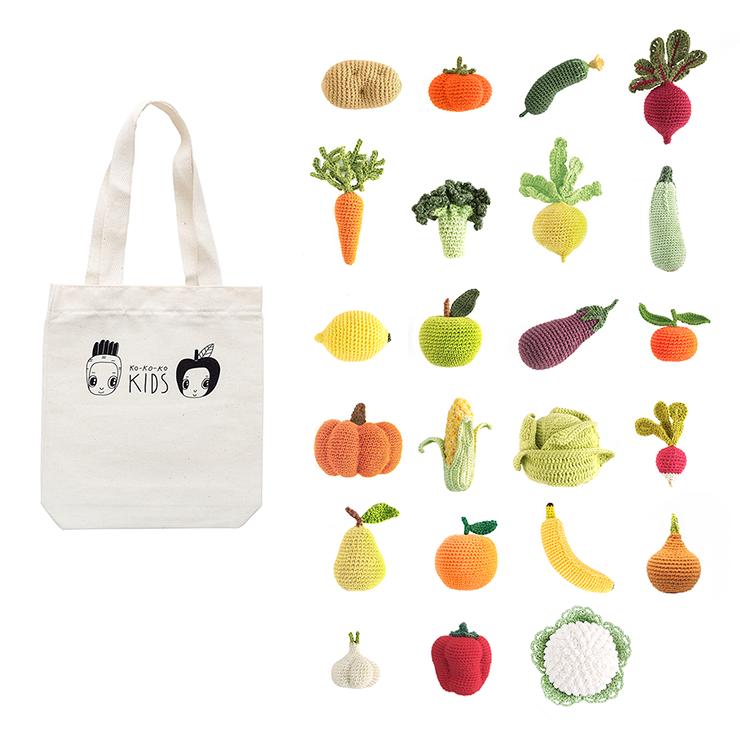 Набор вязаных овощей и фруктов (23шт.)
