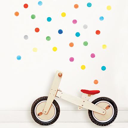 Интерьерная наклейка Watercolor Polka Dots Multicolor Set