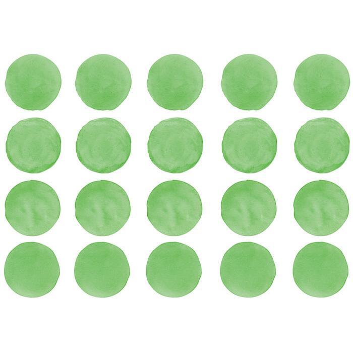 Интерьерная наклейка Watercolor Polka Dots — зелёный