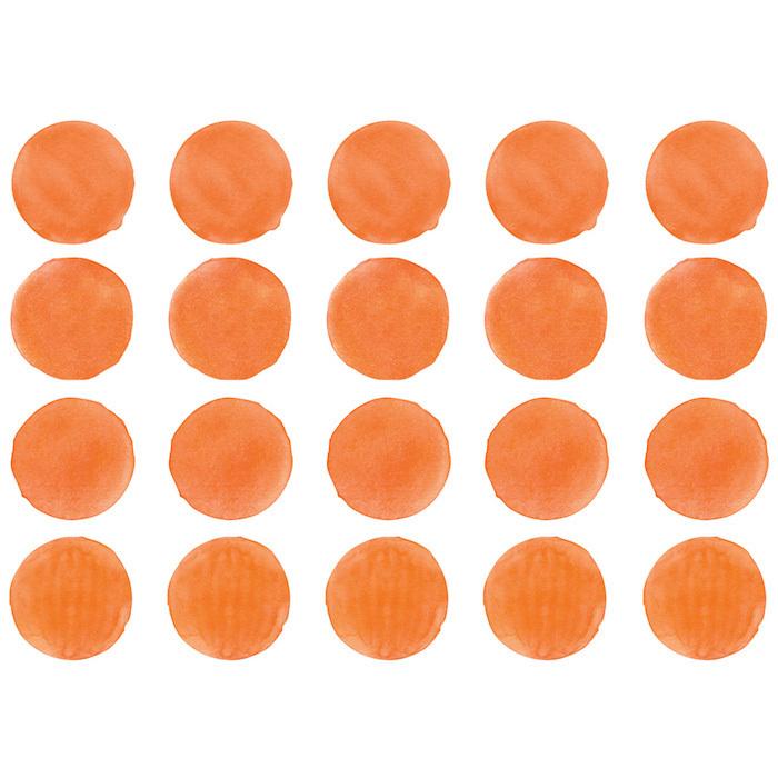 Интерьерная наклейка Watercolor Polka Dots — оранжевый
