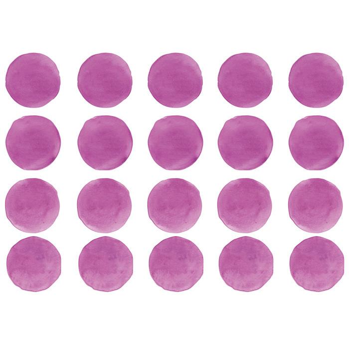 Интерьерная наклейка Watercolor Polka Dots — фуксия